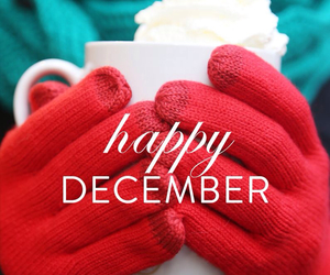 december, winter, and happy image