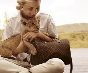 girl, lion, and fashion image