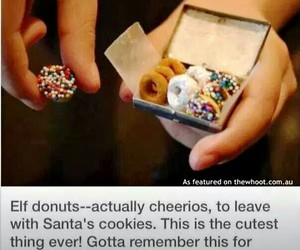 christmas, donuts, and cute image