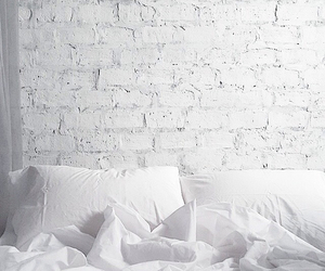 bed, white, and beautiful image