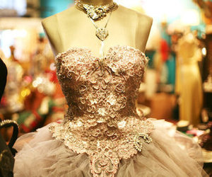 dress, femininity, and gown image