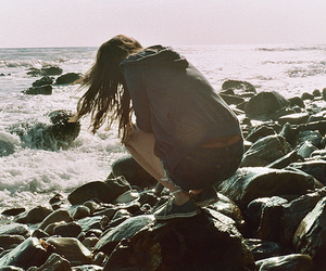 girl and sea image