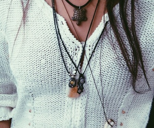necklaces, sweater, and tumblr image