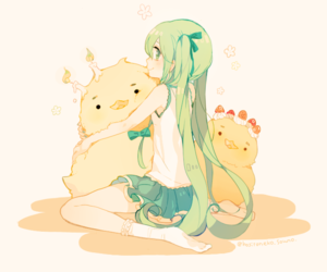 vocaloid, hatsune miku, and kawaii image