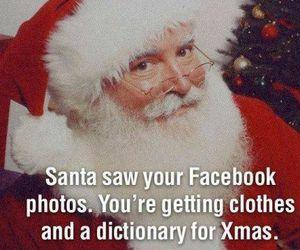 santa, christmas, and funny image