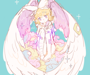 anime, vocaloid, and angel image