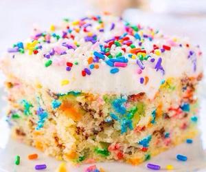 cake, food, and sprinkles image