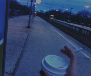 blue, coffe, and morning image
