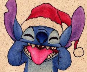 christmas, lilo, and stitch image