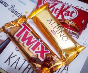 chocolate, delicious, and kitkat image
