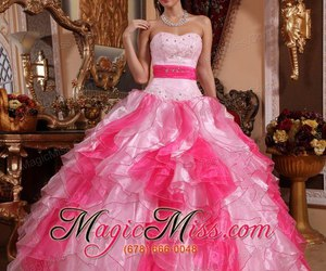 ball gown, multi-colored, and 2015 image