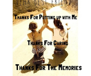bff, thanks, and best friend forever image