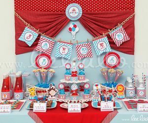 circus, invitation, and party image