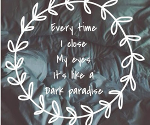 quote, dark, and paradise image
