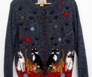 cats, fashion, and sweater image