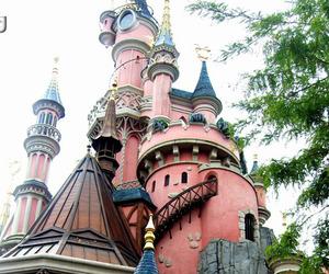 disneyland, park, and pink image