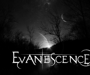 evanescence, black, and moon image