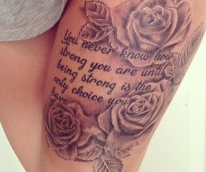 tattoo, rose, and quote image