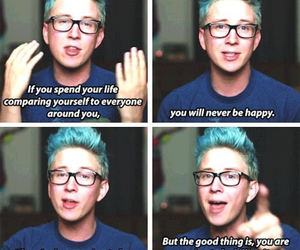 tyler oakley, quote, and youtube image