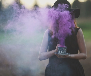 purple, girl, and grunge image
