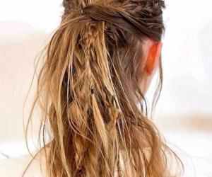 blonde, boho, and braids image