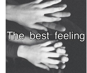 love, feeling, and hands image