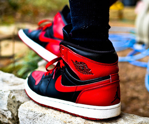 nike, red, and black image