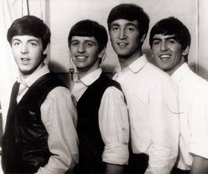 john lennon, the beatles, and george harrison image