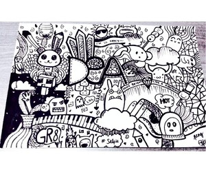 doodle, fun, and drawing image