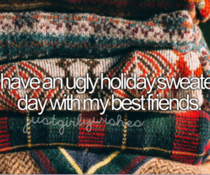 sweater, ugly, and bestfriends image