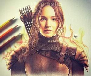 drawing, Jennifer Lawrence, and art image