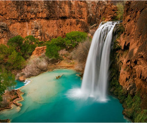 art, photography, and waterfall image