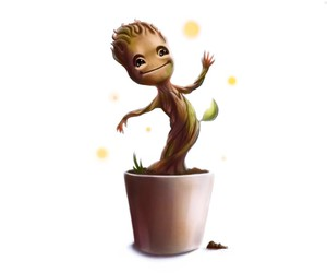 groot, cute, and guardians of the galaxy image