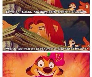 funny, disney, and timon image