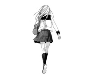 anime, black and white, and fashion image