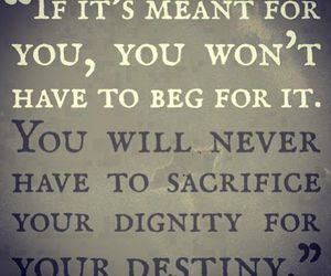 quote, destiny, and dignity image