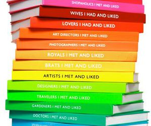 book, colors, and rainbow image