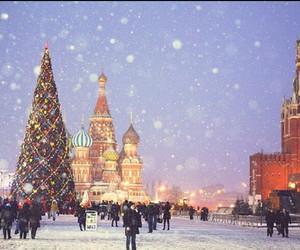 snow, christmas, and russia image