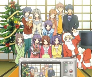 anime, clannad, and christmas image