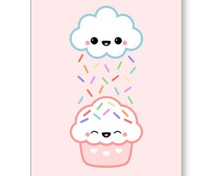 cloud, cupcake, and sprinkles image