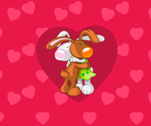 background, cartoon wallpapers hd, and bunny image