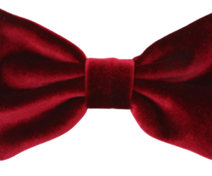 bow, red, and velvet image