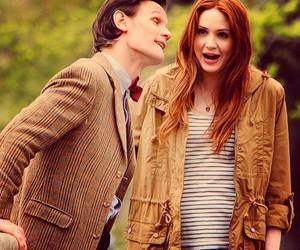 doctor who, amy pond, and matt smith image