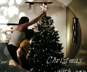 christmas tree, cutie, and couple image