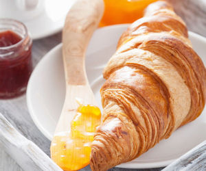 croissant, pastry, and yeast image