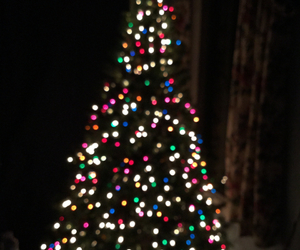 christmas tree, colors, and lights image