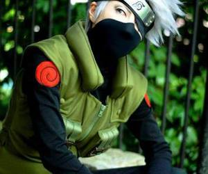 naruto cosplay, cool cosplay, and white hair guy cosplay image