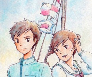 anime, from up on poppy hill, and ghibli image