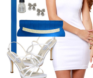 blue, cocktail dress, and dress image