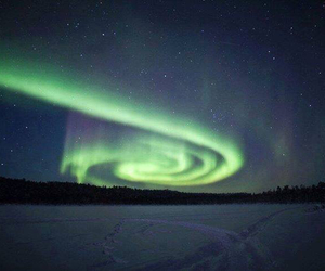aurora, finland, and beauty image